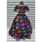 Traje Tipico De Chiapas 5 Olanes De 4 A 6 Años Vestido Niñas