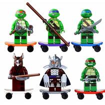 Lego Tartarugas Ninjas Compatível - Kit Com 6 Bonecos