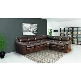 Sofa De Couro Completo | Dallas 3 E 3 Lugares + Canto