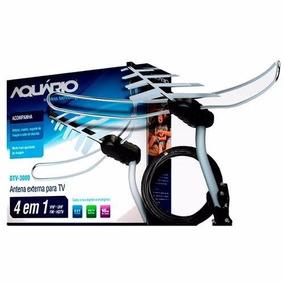 Antena Externa Digital Aquário Dtv 3000 + Nfe