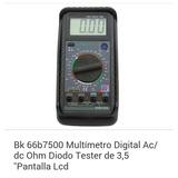Tester Multimetro Digital Bk 66b7500