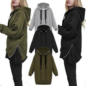 Buzo Hoodies Mujer Con Capucha Buzo Kanguro Modelo Importado