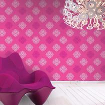 Empapelados Lavables Galia Muresco Rosa Fucsia Escudos 434