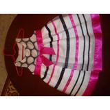 Vestido De Fiesta Para Niña Marca Bonnie Baby 24 Meses