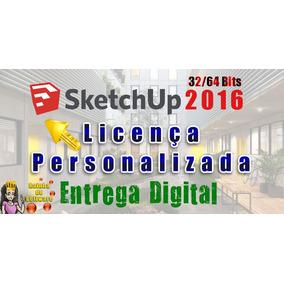 Licença Sketchup 2016 32/64 Bits Envio Rápido 3 Pcs