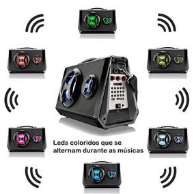Caixa De Som Amplificada Bluetooth Portátil 80w Rms 7 Em 1