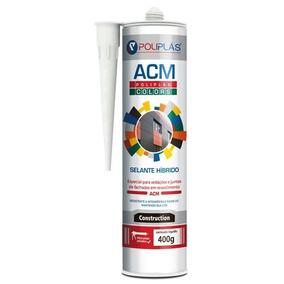 Acm Poliplás Colors Amarelo - Selante Silicone Para Acm
