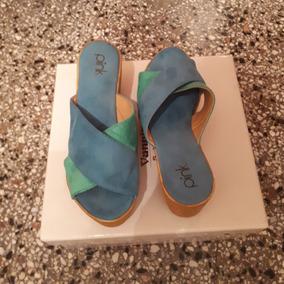 Sandalias Verdes Y Azules!! Pink