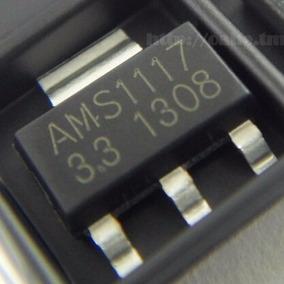 10 Peças Ci Ams1117 3.3v Regulador De Tensão Smd Sot 223
