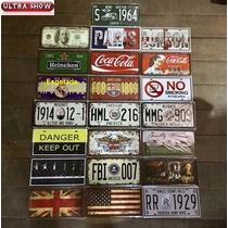 Kit 10 Placa Decorativa Metal 30x15 Vintage Beatles Carro
