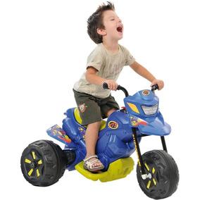 Triciclo Moto Elétrica Xt3 Com Bateria 2700 Bandeirante Azul