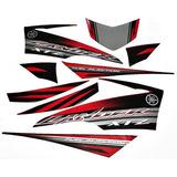 Kit Adesivos Jogo Faixas Xtz 250 Lander 2014 2015 Vermelha