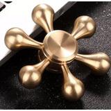 Fidget Hand Spinner Metal - Bronce - Acero Inox - Laton