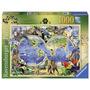 Rompecabezas Ravensburger 1000 Piezas Mapa Mundo Salvaje