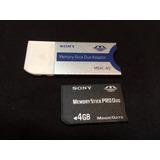 3 Cartões 4gb Memória Stick Pro Duo Sony Gratis Adaptador