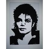 Quadro Michael Jackson De Areia Colorida Alto Relevo 30x42cm