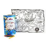Rompecabezas Para Pintar Piratas 70 Pzs Juegos Del Caracol