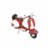 Motocicleta Lambretta Vermelho 28cm Estilo Retrô - Vintage