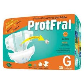 Fralda Protfral Geriátrica G 30 Unidades - Pacote Economico