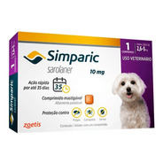 Anti Carrapaticida E Anti Sarnas Simparic Cães 2,6 - 5kg
