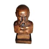 Escultura De Socrates De Cobre Griega Original Miniatura
