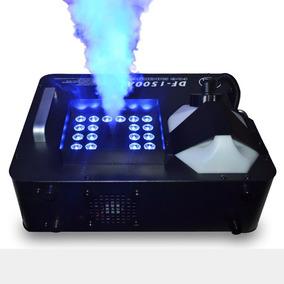 Máquina De Fumaça 1500w Up 24 Leds Tri-led Rgb 220v Ou 110v