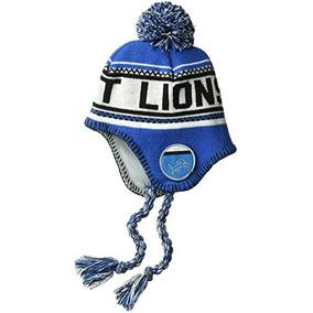 Detroit Lions Nfl Bebé Gorro De Invierno Con Borlas Y Pom