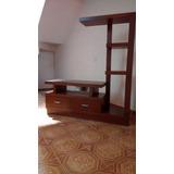 Centro Entretenimiento Mueble Tv 2 Cajones En Madera