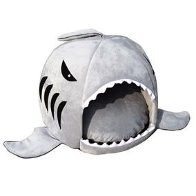 Caminha De Cahorro Ou Gato Em Formato De Tubarão Importada