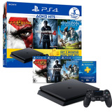 Ps4 Slim Play Station 4 Slim Hits Bundle + 3 Juegos + Plus