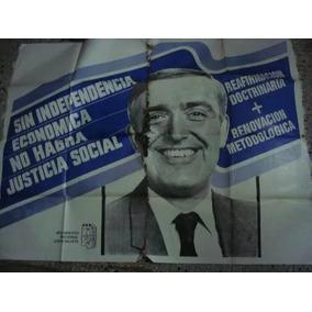 Afiche Original De Calle Doble Peronismo Ruckauf 110x145