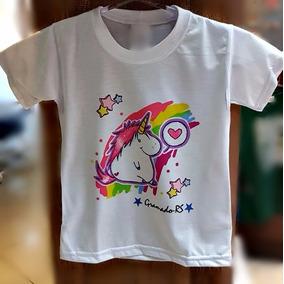 Camiseta Unicornio Personalizada Sublimação