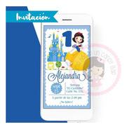 Invitación Digital Princesa Disney Blanca Nieves