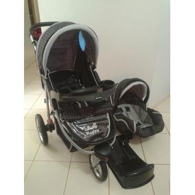 Carrinho Bebê Baby Happy Três Rodas Bebê Conforto Base Carro