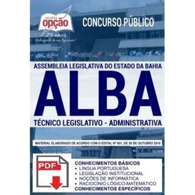 Apostila, Técnico Legislativo, Administrativa, Concurso Alba