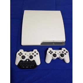 Ps3 Branco, 2 Controles, 39 Jogos Originais, Kit Accessórios