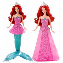 Boneca Princesas Disney - Ariel Sereia Ou Preincesa