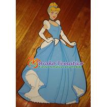 Princesas Cenicienta Figuras Goma Eva Cumpleaños Temáticos