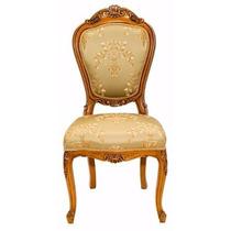 Cadeira Estilo Clássico Luis Xv Madeira Entalhada