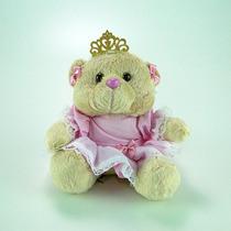 Urso De Pelúcia Princesa Mini Rosa