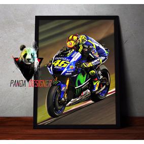 Quadro Valentino Rossi Moto Gp 46 Doctor Decorativo C/ Vidro