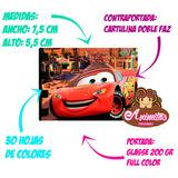 Cars Rayo Mini Libretas Para Cotillones Fiesta Piñata Niños