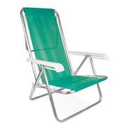 Silla Reposera 8 Posiciones Sillon Reclinable Playa Aluminio