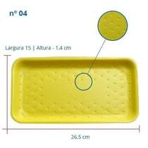 Bandeja De Isopor N-04 Amarelo 26,5 X 15 X 1,14cm 400 Un
