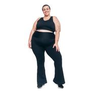Bailarina Flare Plus Size Wonder Size Emana® Plus Preta