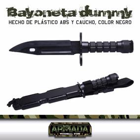 Cuchillo Goma Entrenamiento Bayoneta Militar Gotcha Airsoft