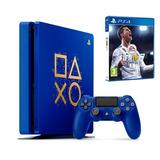 Consola Ps4 1tb Azul + Juego Fifa 18 / Iprotech