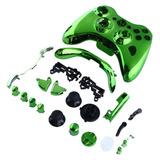 Carcasa Verde Cromado Para Control De Xbox 360 Con Torx T8