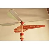 Halcon Avion Volador Autogiro Antiguo Juguete Ind Arg