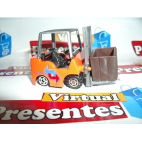 Empilhadeira Miniatura 6 Cm Em Metal E Plastico